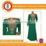Moroccan Kaftan Embroidered Design Fabic
