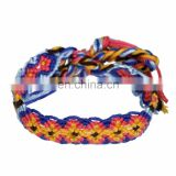 Friendship bracelet, woven, multicolor, cotton