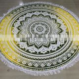 round with flanges Cotton hand Made Customized tapestry manufacturer Christmas festival product india Italy