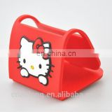 Hello Kitty soft pvc mobile phone stand holder,rubber cellphone holder for advertising promotion