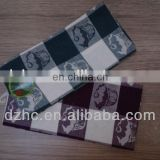 100%cotton checked jacquard style wash cloth