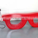 Large image animated flashing electronic LED neon sign for optician shop
