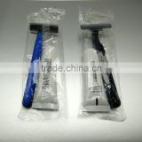 Twin or triple blades razor hotel shaving set