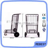 Two tiers hand luggage trolley with wheels