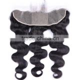 Virgin Brazilian Lace Frontal Closure Bleached Knots 13X4 with Free Shipping Full Lace Frontal with Baby Hair