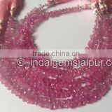 Wholesale Good Quality Pink Sapphire Faceted Drop Beads