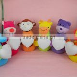 2014 Years Hot Sale Plush toy with micro USB night light