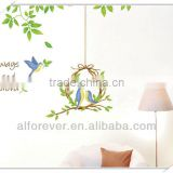 Fashion XL bird cage wall sticker,wall decoration for bedroom 60*90 cm