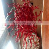 Fashion creative red glass pendant lamp, Hand Blown glass pendant light for chandelier RT8026