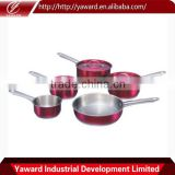 Cookware Set in Color, Stainless Steel, Saucepan and Frypan, Induction