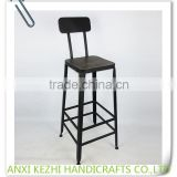 KZ150291 Metal Vintage Commercial Furniture Bar Stool High Chair