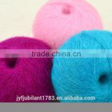 High grade natural soft worsted wool/acrylic mohair yarn factory