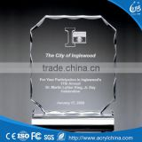 crystal trophy bank acrylic trophy and award with Diamond polishing design