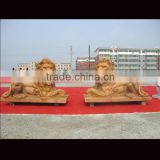 Mighty stone lion carvings