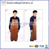 high quality oil-proof pu leather kitchen/supermartket/fish apron bulk cheap price