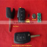 TD auto remote key ,3 button remote control unit 433mhz 4D63 80 bit chip with trunk button for F-rd
