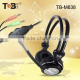 Comfortable headset with microphone, headphone for laptop with rj11 plug,headphone stand
