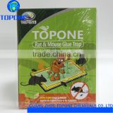 2016 topone Hot Sale good effective large mouse and rat glue trap, high quality mouse killer