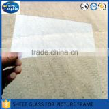 1.5mm flat edges polished thick glass sheets for photo frame                                                                         Quality Choice