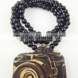 2015 custom handmade wooden beaded necklace