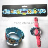 rubber or silicon or soft pvc children bracelet with cute cartoon picture wholesale gift items