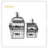 Antique metal bird cage decorations series cage flower planter
