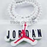 Jordan Pendant Beaded Chain Wood Beads Rosary Necklaces
