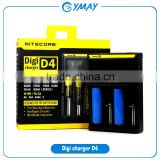 Nitecore charger Nitecore D4 lcd charger 4 bay charger IMR/Lifepo4/NiMh/NiCd AA AAA battery charger