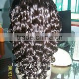 New popular Indian remy artifical hair long wigs full lace wigs