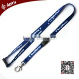 custom cheap work badge printed plain lanyards