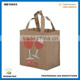 low MOQ Shopping Bag with full colors printed, Promotional Cheap Customized Foldable Laminated Eco Fabric Tote bag