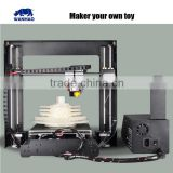 Best selling full metal framework wanhao i3 DIY 3d Printer with single MK10 pvc extruder machine