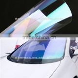 Removable UV-protective 75% Privacy protective car window glass blue chameleon tint film