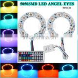 Vehicle car angel eyes ring lights full circle pcb 5050 angel eyes halo ring with remote controller