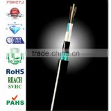 YOFC 4/6/8/12 core single model/multi mode Stranded Loose Tube Non-metallic Strength Member Armored Optic Cable