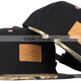 custom leather patch logo snapback hats wholesale,fashionable leather snapback hats custom with high quality