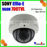 Vandalproof metal cover 700TVL sony Exview ccd sensor OSD menu surveillance video camera with better price