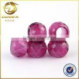 new prouct for 2016 machine cut larger hole ruby gemstone beads for bracelet or necklace