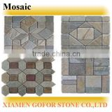 China Slate Mosaic On Mesh,tile backing mesh mosaic