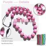 flat oval silicone teething beads for jewelry