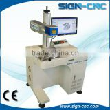 QR code/ Iphone cases /metal /plastic portable optical fiber laser printing machine price