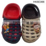 Cute 2016 Design With PVC Charms for Kids EVA Clogs Shoes