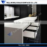 Inside luminious lighting decorated solid surface/man-made stone night club bar counter design