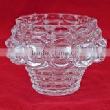 wholesale hot sale home decration clear glass candle holder                                                                         Quality Choice