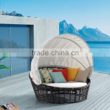 Popular Outdoor Moon Round Chaise Lounge Bed Rattan Daybed                                                                         Quality Choice