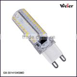 hot sale high brightness 5w silicone G9 decorate pandent light replace conventional halogen bulb