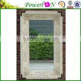 Cheap Elegant Chic Antique Carved Wooden Frame Decorative Mirror For Home Garden Outdoor Patio J09M TS05 X21M PL08-34749CP2