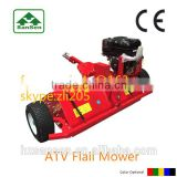 CE Flail Mower tow-behind quad ATV, Gasoline ATV Mower with 13hp Briggs&stratton engine working width 1200mm