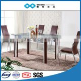 TB wholesale 12mm thick tempered glass dining table classic style
