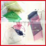 Custom Design Logo Jewelry Packing Drawable Organza Bags ,Wedding Gift Bags & Pouches